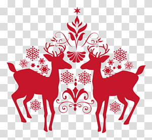 Christmas Santa Claus New Years Day, deer PNG