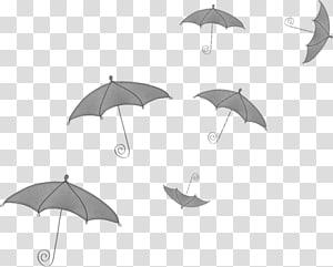 Umbrella Black and white Illustration Monochrome painting, umbrella PNG clipart