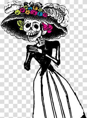 La Calavera Catrina Pátzcuaro Festival de las Calaveras Day of the Dead, catrina PNG
