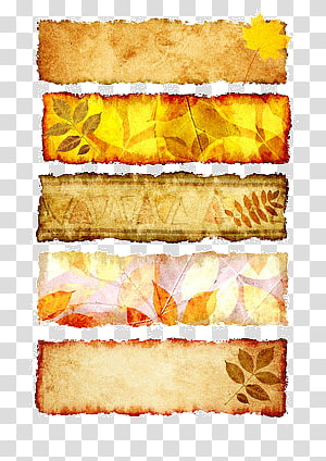 autumn banners PNG