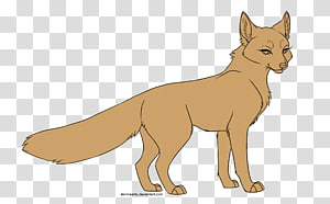 Red fox Huli jing Nine-tailed fox Line art, Cat PNG