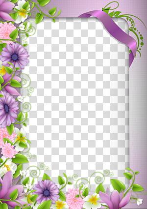 purple flowers, Borders and Frames Border Flowers frame , Purple flowers border PNG