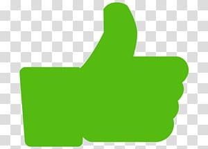 Thumb signal Facebook Social media Green , Thumbs up PNG clipart