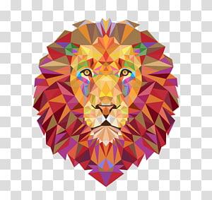 color lions PNG