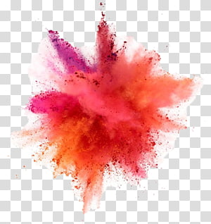 Color Dust explosion Drawing, powder, splash of pink powder PNG clipart