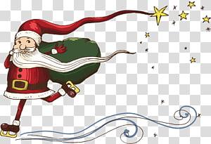 Snegurochka Ded Moroz Christmas Illustration, Santa Claus Creative PNG