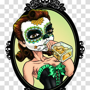 La Calavera Catrina T-shirt Mexico, T-shirt PNG