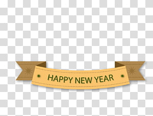 Banner New Year, Happy New Year Tags PNG