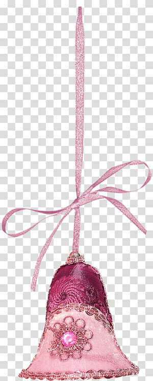 Christmas pudding Christmas ornament Christmas decoration , Princess pink bell PNG