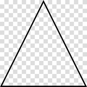 Equilateral triangle Equilateral polygon Regular polygon Shape, thin PNG