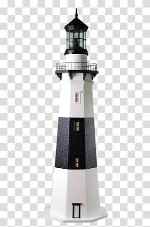 white and black lighthouse, Montauk Point Light Delaware Lighthouse Man, lighthouse PNG