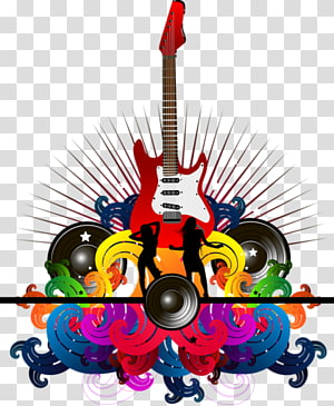 color rock music PNG