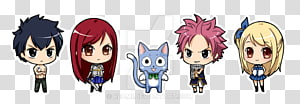 Natsu Dragneel Erza Scarlet Lucy Heartfilia Chibi Fairy Tail, Chibi PNG clipart