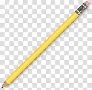 Pencil Graphite , Yellow pencil PNG clipart