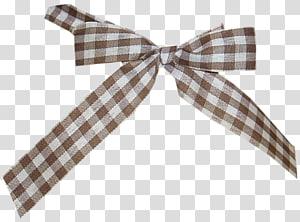 Tartan Textile Brown , Brown plaid cloth bow PNG clipart