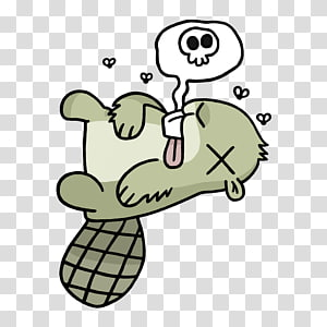 dead green beaver , Dead Adsy PNG clipart