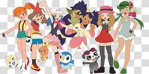 Ash Ketchum Misty Clemont Pokémon Fan art, pokemon PNG