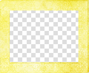 Square Area Yellow Pattern, Yellow frame PNG clipart