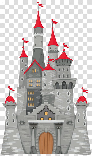 gray and red castle , Castle , Grey Castle PNG clipart