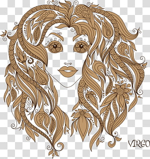 Virgo zodiac sign illustration, Virgo Zodiac Astrological sign Illustration, Virgo PNG