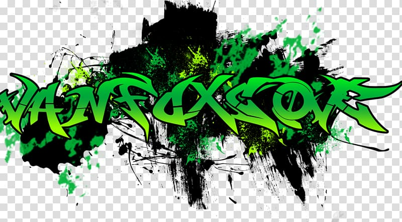green and black logo, Graffiti Logo, Graffiti PNG clipart