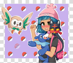 Pokémon Sun and Moon Litten Popplio Rowlet, Galaxy Elements PNG
