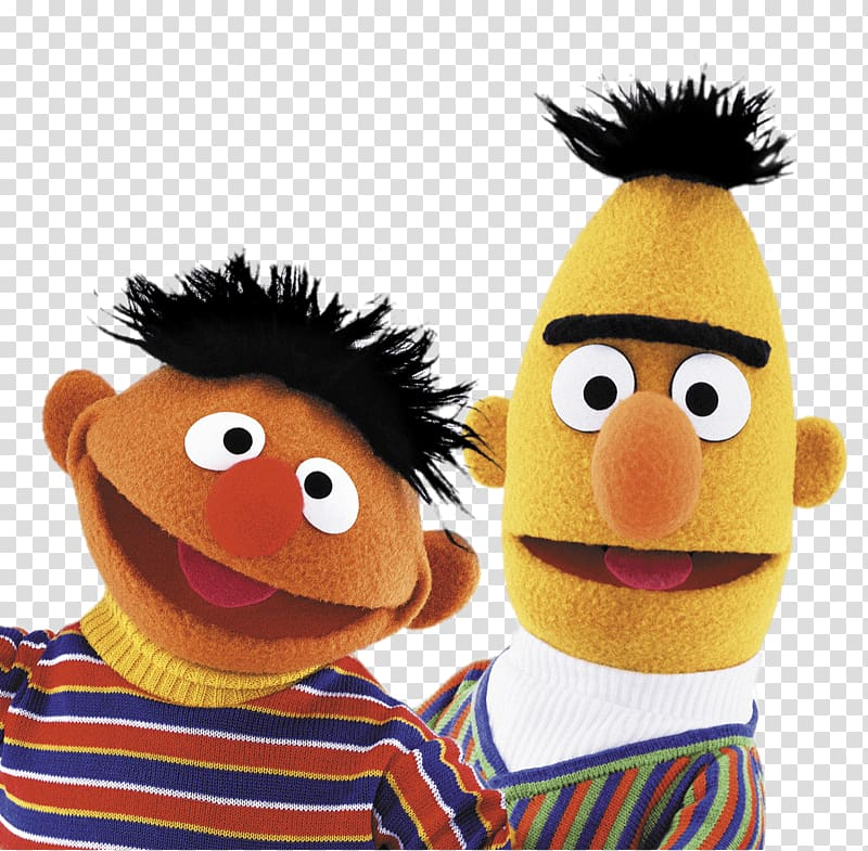 Ernie and Bert of Sesame Street, Sesame Street Bert and Ernie Heads PNG
