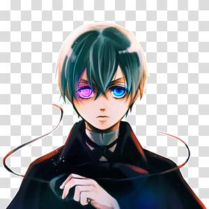 Ciel Phantomhive Sebastian Michaelis Faust Black Butler Anime, Anime PNG