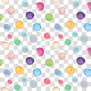 Watercolor painting Circle, Hand-painted watercolor circles background, assorted-color ball illustration PNG