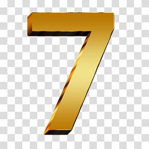 Number , 7 Number PNG