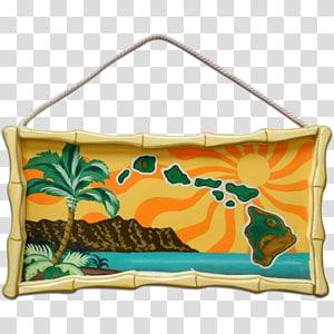 Hawaiian Islands Wooden Roller Coaster Rectangle, hawaii island PNG