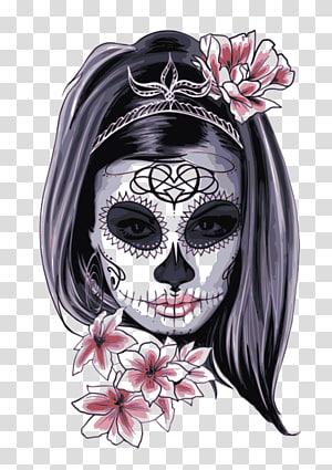 La Calavera Catrina Day of the Dead Human skull symbolism, skull PNG