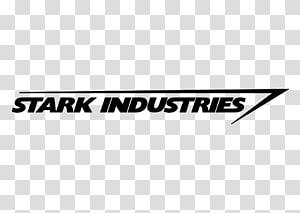 Stark Industries text, Iron Man Stark Industries Logo Decal Marvel Comics, industry PNG