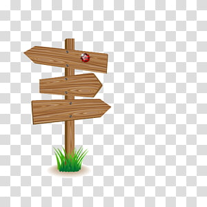 Signage , Wood signs PNG clipart