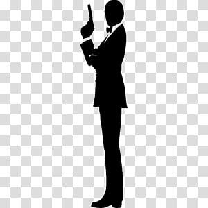 James Bond Film Series Silhouette , james bond PNG clipart