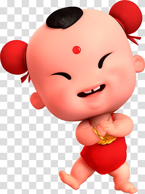 Chinese New Year Bainian Sudhana u7ae5u5b50 Illustration, Lucky Boy, Happy New Year friends PNG clipart