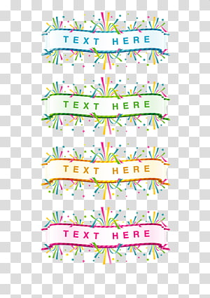 Color ribbons PNG clipart