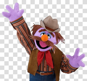 Muppets Forgetful Jones, Sesame Street Forgetful Jones Waving PNG
