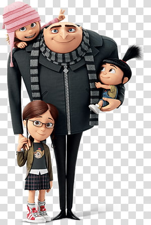 Despicable Me characters poster, Despicable Me 3 Margo Agnes Edith, despicable me PNG clipart