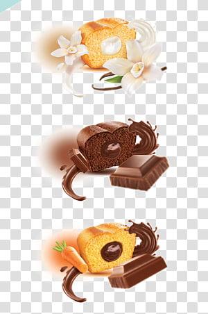 Chocolate truffle Chocolate chip cookie Praline Petit four, Hand-painted chocolate truffles PNG