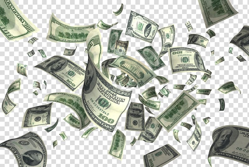 100 US dollar banknote lot, Money Flying cash , Flying Dollars PNG clipart