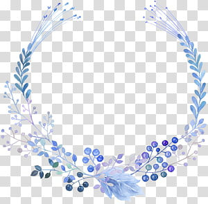 hand-painted plant garland PNG clipart