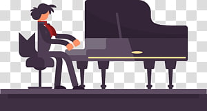 Piano Pianist, piano performance PNG