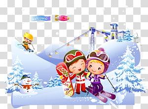 Skiing Ollies Ski Trip Sport Illustration, Skiing PNG