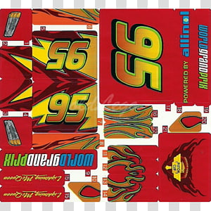 Poster Lightning McQueen Graphics Decal, design PNG