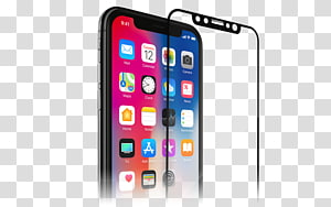Spigen iPhone X Screen Protector Screen Protectors iPhone 6S Thermoplastic polyurethane, iphone x tempered glass PNG