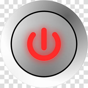 Electrical Switches Button graphics Power symbol, Button PNG