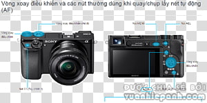 Sony α6000 Mirrorless interchangeable-lens camera Digital SLR Sony α7, Camera PNG clipart