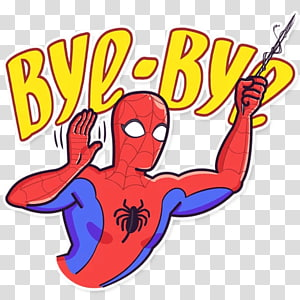 Sticker Telegram Messaging apps Superhero , Bye Bye Bby Boo PNG clipart