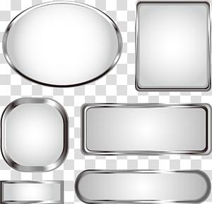 six silver shapes illustration, Euclidean Metal, Metal texture title bar PNG